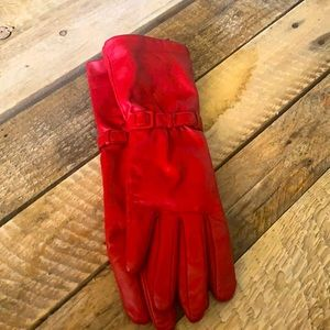 Fownes Vintage Red Leather Gloves